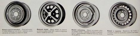 različite izvedbe kotača